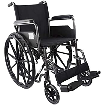 Mobiclinic, S220, Sedia a rotelle pieghevole premium, ortopedica, per disabili, braccioli pieghevoli, colore Nero, seduta 46 cm, leggerissima
