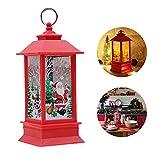 Candela di Natale con lumino a LED in stile vintage, lanterna di Natale da appendere, decorazione natalizia per esterni e interni, 8 x 20 cm (Santa Claus)