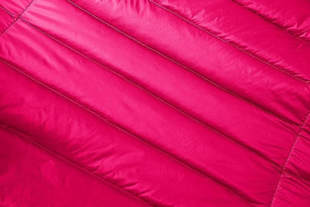 Byqny Legere, widerstandsfähige Weste mit Reißverschluss, ärmellos, leicht, gepolstert, Outdoor-Jacke, Körperwärmer, atmungsaktiv 1 # Rosa-rot.
