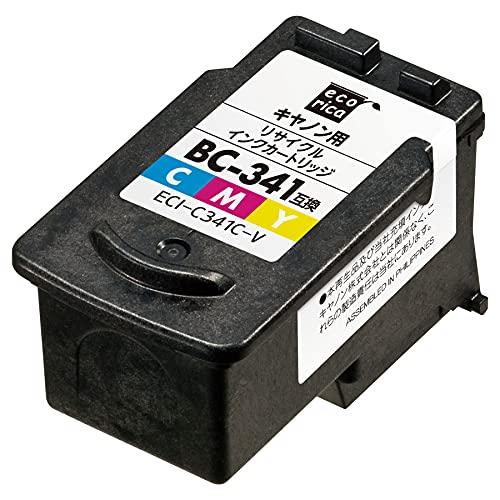 エコリカ キヤノン BC-341 対応リサイクルインクカートリッジ カラー ECI-C341C-V
