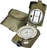 Lensatic Military Compass Hiking - Tritium Compass Military Grade...