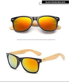 71e68cb84a Taiyangcheng Gafas de Sol de Madera de bambú Hombres Mujeres Gafas Espejo de  Oro Gafas de