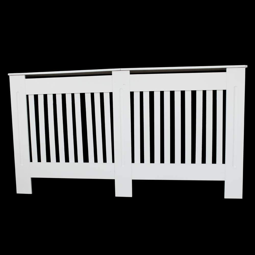 Mulple Chelsea Radiator Cover Modern Slatted Grill Slats White Painted MDF Cabinet S