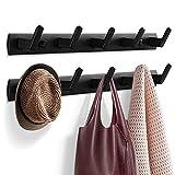 Garderobenhaken, Kleiderhaken für Wand und Tür, stabile Garderobenleiste Aluminium Hakenleiste, Wandgarderobe Handtuchhaken für Bad, Küche (10 Haken, 2 Stück)