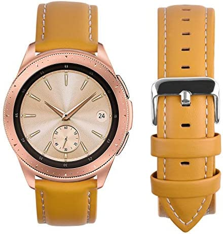 Fullmosa Compatible Samsung Galaxy 46mm Gear S3 Frontier Classic Watch Bands Quick Release Leather product image
