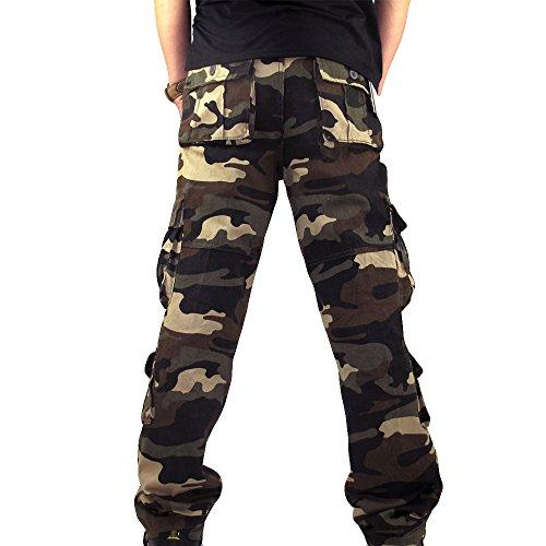 Chemise homme en coton mélangé Skinny Militaire Décontracté Cargo Overalls Pants Paquet Pantalon