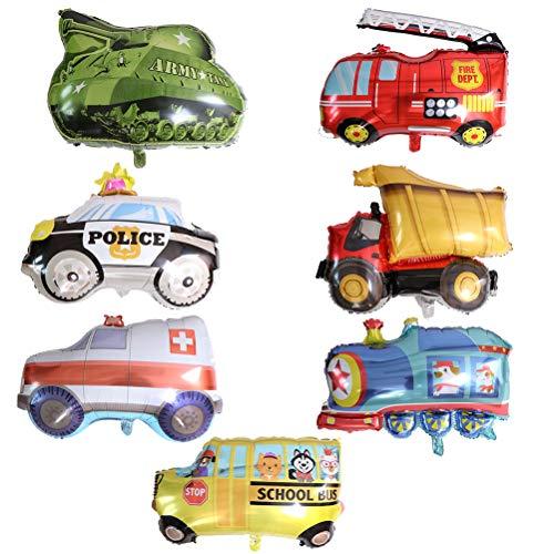 FADACAI 1 Pack Große Größe Zug Tank Verkehrs Fahrzeug Folienballons, Geburtstagsfeier Kindergarten Dekoration Lieferungen Kinder Kinder Geschenk Spielzeug Ball Luftballons, zufällige Farbe