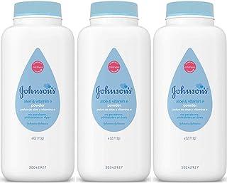 Johnson's Baby Powder with Naturally Derived Cornstarch Aloe & Vitamin E, Hypoallergenic (Value Pack of 3)