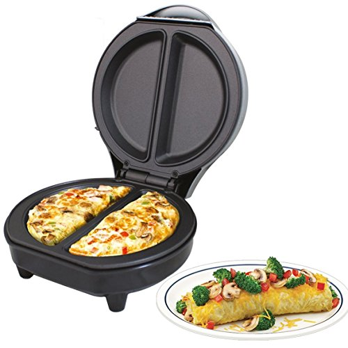 Trendi Dual Omelette Maker Electric-Easy Clean Non-Stick Cooking...
