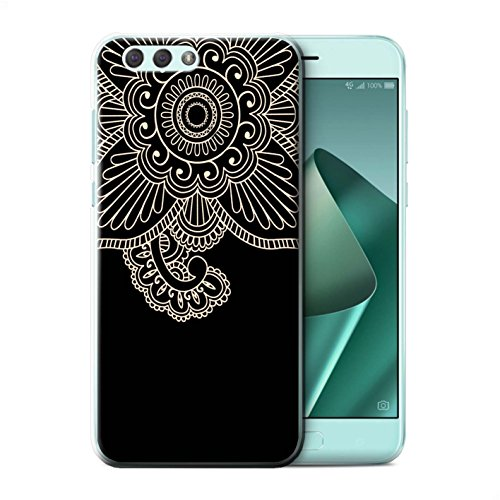 Stuff4® Phone Case/Cover/Skin/ASUS-CC/Henna Tattoo Collection Asus Zenfone 4 ZE554KL bloem