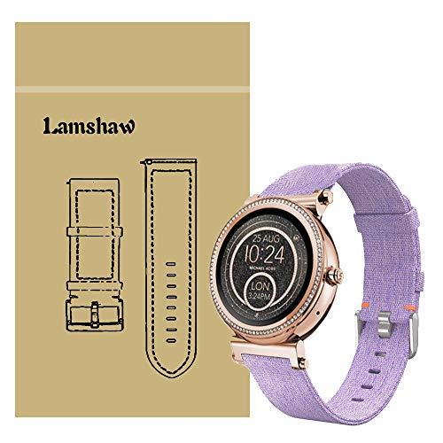 LvBu Armband Kompatibel für Michael Kors Sofie, Nylon Strick Replacement Uhrenarmband für Michael Kors Sofie Smartwatch (Lila)