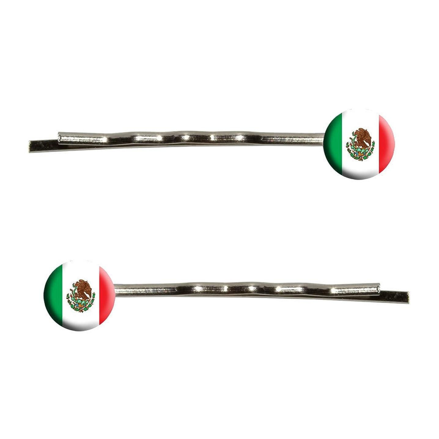 ミシン軍艦補体Mexico Mexican Flag Bobby Pin Hair Clips