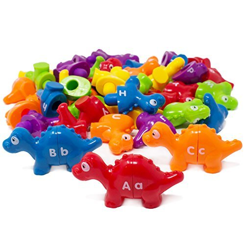 Boley Alphabet Dinos Bucket - 52 Pc...
