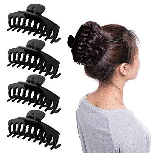 HONGECB 4 Stück Große Haarklammer, Kunststoff Haar Klaue Clips, Unregelmäßige Rutschfeste Haarnade, Stark Halt Haarzubehör Für Frauen Und Mädchen Dickes Langes Haar.