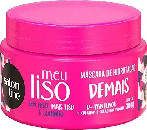 Máscara de hidratação Meu Liso Demais, 300g, Salon Line, Salon Line, Branco, 300 G