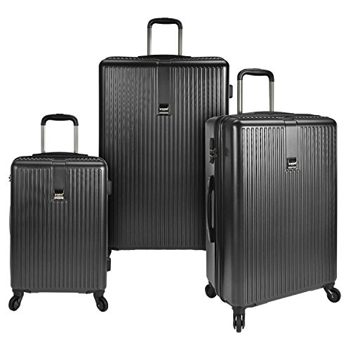 U.S. Traveler Sparta Hardside Spinner Luggage Set 3-Piece, Charcoal