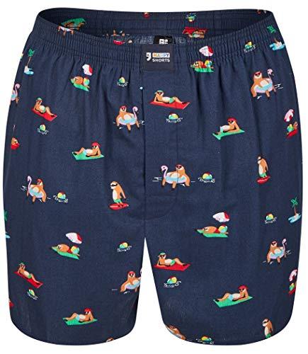 Happy Shorts Webboxer Herren Boxer Motiv Boxershorts Farbwahl, Grösse:L - 6-52, Präzise Farbe:Design 13