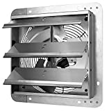Simple Deluxe 12 Inch Shutter Exhaust Fan Aluminum,High Speed,1420CFM, Silver