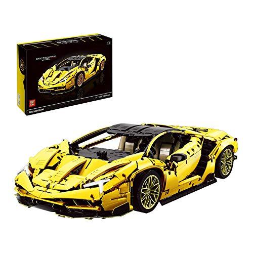 JXINGY Coche Deportivo Technic para Lamborghini Centenario, 3899 Piezas 1: 8 Juego de construcción de Coche en Funcionamiento Compatible con Lego Technic
