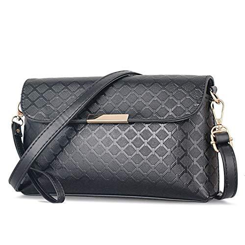 YBYKDY Handtasche Frauen Messenger Bags Wristlets Mini Damen Schulter Crossbody Taschen Clutche Frauen Geldbörse Für Frauen Tasche,Black