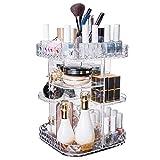 Organizador de maquillaje Cómoda de escritorio Cosméticos Caja de almacenamiento Acrílico Rotación de lápiz labial transparente Estante para el hogar para la cómoda ( Color : Clear , Size : Medium )