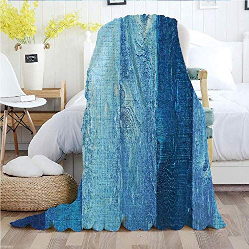 Décor Bleu Marine, jetez des couvertures, Graphique Vintage en détresse de Bois en Oeuf de Robins Vieux Grunge Grain Texture rétro Maison