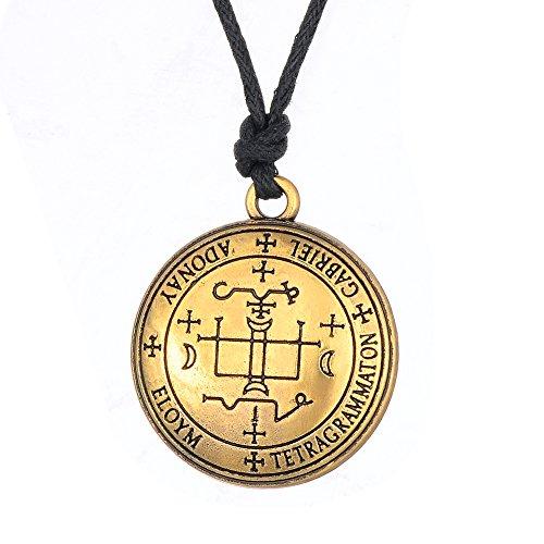 Fishhook Wicca Das Siegel des Erzengels Gabriel, Talisman, Amulett, Anhänger, Halskette