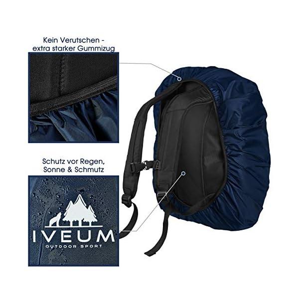 51peEQMPqhL. SS600  - IVEUM - 2 unidades Mochila impermeable - Varios tamaños de mochila funda de lluvia - Protección de mochila en 18 L - 70 L