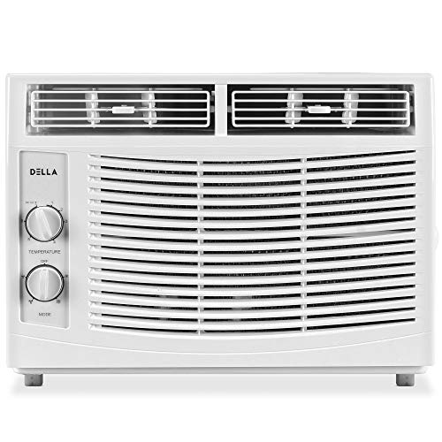 Della 5000 BTU Window Air Conditioner 540W, 110V/60Hz, 11 (EER) Rated Efficient Cooling Rooms up to 150 Sq. Ft. With 30 Pint/24hrs Dehumification