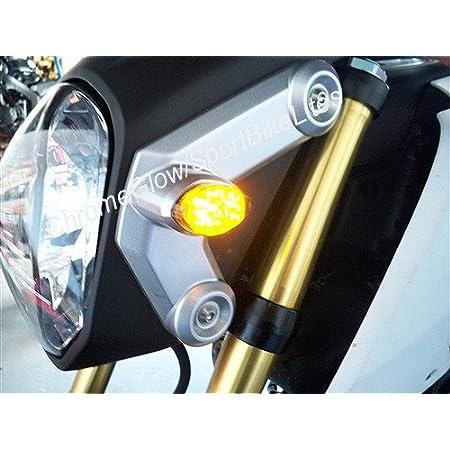 Fits 14-18 Honda Grom Flush LED Turn Signals Amber Lights Blinkers Smoke Lens