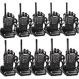 Walkie Talkie Recargable Bidireccional Transmisores-receptores Radio 5W 16 Canales 1500mah CTCSS DCS, con el Auricular Incorporado Antorcha de LED (10PCS)