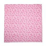 CTM Women's Cotton Pink Ribbon Breast Cancer Awareness Bandanas, Pink