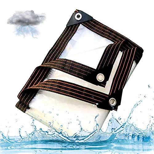 HYDL Lona Transparente Cubierta De Lona, Resistente Al Polvo Resistente Al Agua con Ojales Cubierta Lona, Invernadero Plantas Cubiertas Lonas Transparente