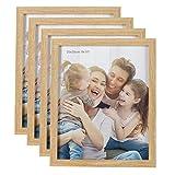 HelaCueil Cadres Photo en Bois, Vintage Cadre en Bois Rustique Cadre Photo (Couleur du Bois, Lot de 4 en 20x25 cm)