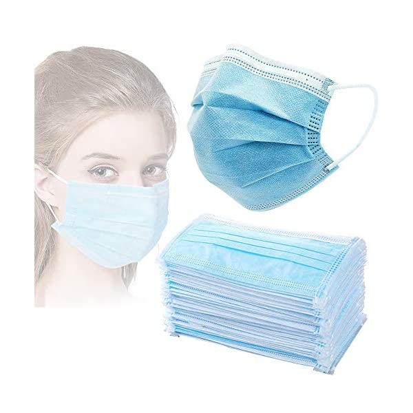 ZHY 3 Ply Earloop Face Masks, Disposable 50 PCS Filter Personal Protection dust-Proof...