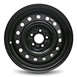 Road Ready Car Wheel for 2013-2018 Nissan Altima 16 inch 5 Lug Black Steel Rim Fits R16 Tire - Exact OEM Replacement