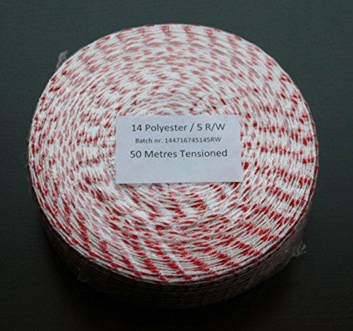 50m Kaliber 14 Räuchernetz Rot-Weiß/Bratennetz/Rollbratennetz für Einfüllrohr mit einem Durchmesser von ca. 100 mm
