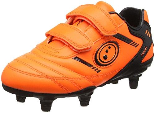 OPTIMUM Boys Tribal Boot-Velcro 6 Stud, Orange (Fluro Orange/Black), 12 UK