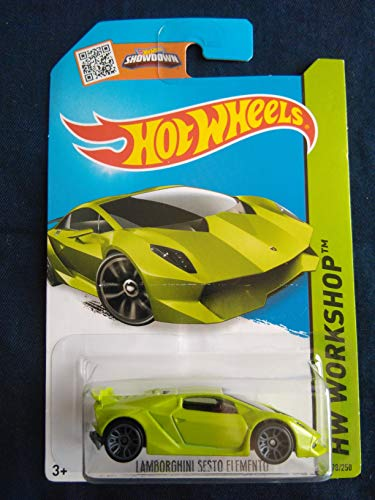 Hot Wheels, 2015 HW Workshop, Lamborghini Sesto Elemento [Lime Green] Die-Cast Vehicle #198/250 by Hot Wheels