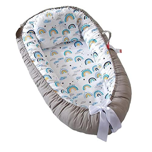 Cojín De Bebé Tumbonas Suave Algodón Portátil Pod para Dormir con Almohada Estilo3