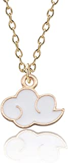 DOZOGU Enamel Color Cloud Pendant Necklaces Pendant Tiny Clouds Gold Chain Choker Women Men Japanese Anime Cosplay Collar Jewelry