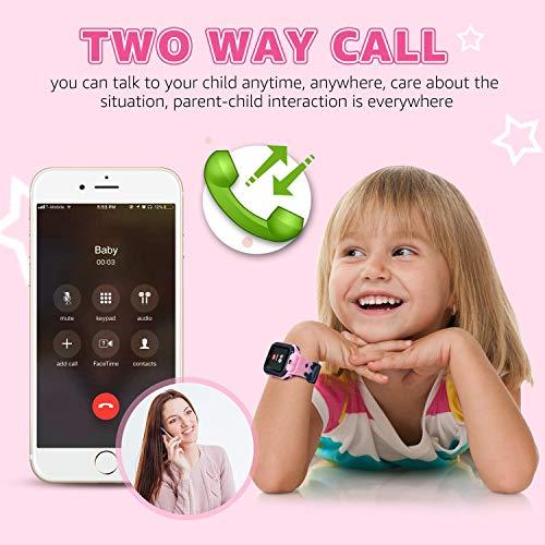 Smartwatch Kinder Telefon - Spiel Musik Kids Smart Watch [1 GB Micro SD Enthalten] mit Anruf Kamera Spiele Wecker Musik Player für Jungen Mädchen Alter 3-12 (V9-Rosa)