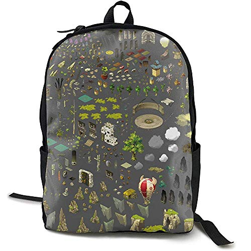 Kimi-Shop Mochila Escolar The World 3D Adult Outdoor Leisure Mochila Deportiva