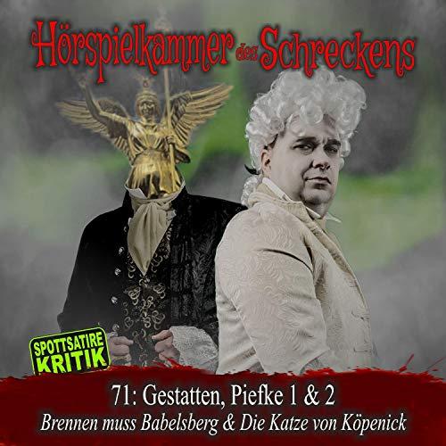 Page de couverture de Gestatten Piefke 1 (Brennen muss Babelsberg) & 2 (Die Katze von Köpenick)