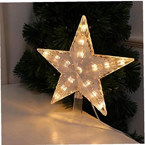 Aisoway Estrella de la Navidad del Primero del árbol de luz LED Cima del Ornamento de la Estrella decoración del hogar con Plug