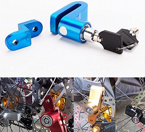 IZTOSS BLUE Mini Bicycle Disc Brake Lock with Two Keys - Portable Anti-theft Disc Brake Rotor Wheel Lock - Security Lock for Mountain Bike Bicycle Motorbike Motorcycle