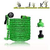 JINCHENGTubo da Giardino,Tubo Estensibile da Giardino con 7 Funzioni di Spruzzo,per Auto & Pet Lavaggio/Irrigazione Prato Giardinaggio Irrigazione Giardino(Verde) (25)