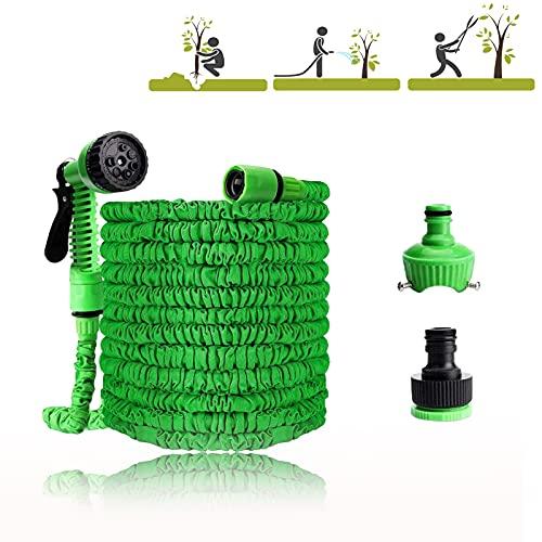 JINCHENGTubo da Giardino,Tubo Estensibile da Giardino con 7 Funzioni di Spruzzo,per Auto & Pet Lavaggio/Irrigazione Prato Giardinaggio Irrigazione Giardino(Verde) (50)