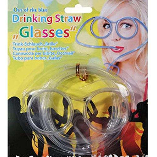 Bada Bing Partybrille Trinkschlauchbrille Brille Strohhalm Party Motto Verkleiden Karneval