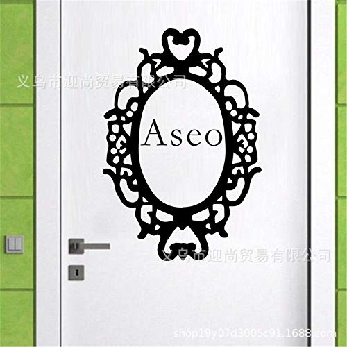 JXFFF Kreative ASEO-Blumenkasten-Grafikaufkleber dekorative Toilettentür-Aufkleberunterstützung, zum der Gewohnheit 14 * 10CM 2pcs abzubilden